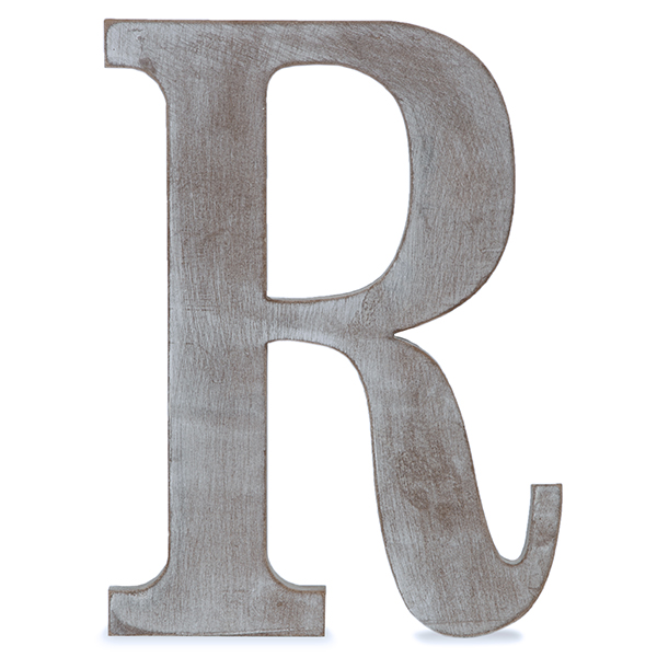 81f9fa938 Wood Block Letter - Charcoal Grey 8in - R The Lucky Clover Trading Co.