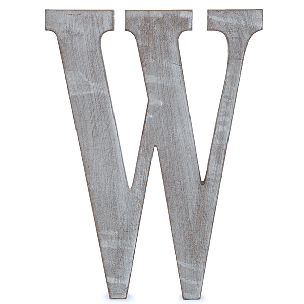 37818b00e Wood Block Letter - Charcoal Grey 8in - W The Lucky Clover Trading Co.