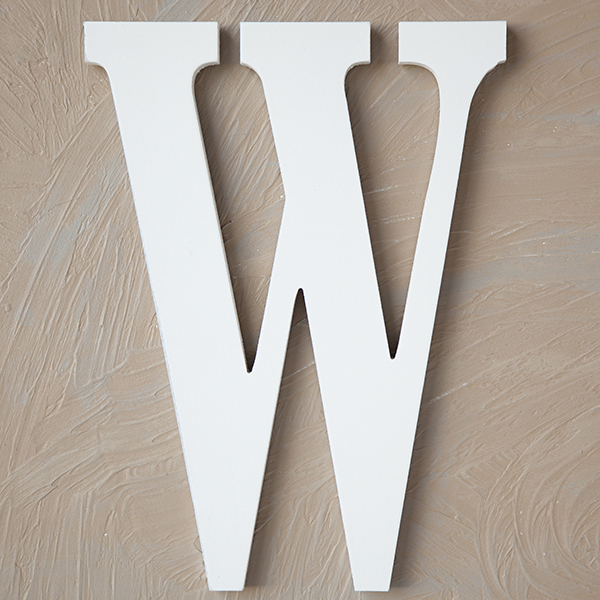 Wood Block Letter - Painted White 24in