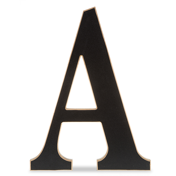 Wood Chalkboard Letter 14in