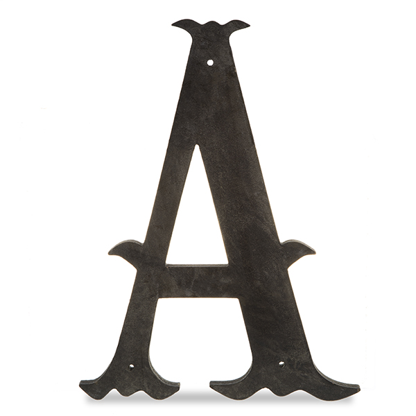 Wood Decorative Letter Charcoal Black 14in A The Lucky