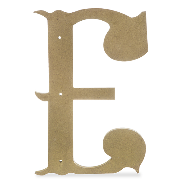 7cf2621ec Wood Decorative Letter - Antique Gold 24in - E The Lucky Clover ...