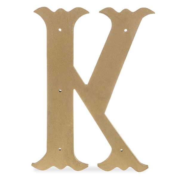 Wood Decorative Letter - Antique Gold 24in