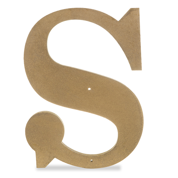 049eb593c Wood Decorative Letter - Antique Gold 24in - S The Lucky Clover ...