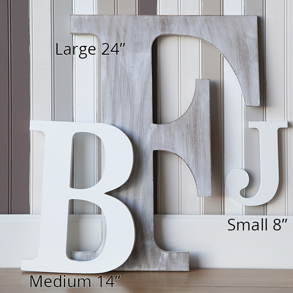 wood block letter painted white 24in zoom thumb thumb thumb thumb thumb thumb