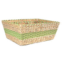 Maize Rectangular Utility with Braided Green Stripe