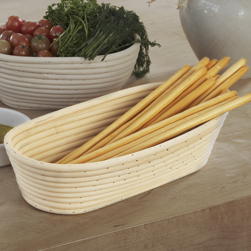 Artisan Collection Large Oblong Proofing Basket - Wide 12in