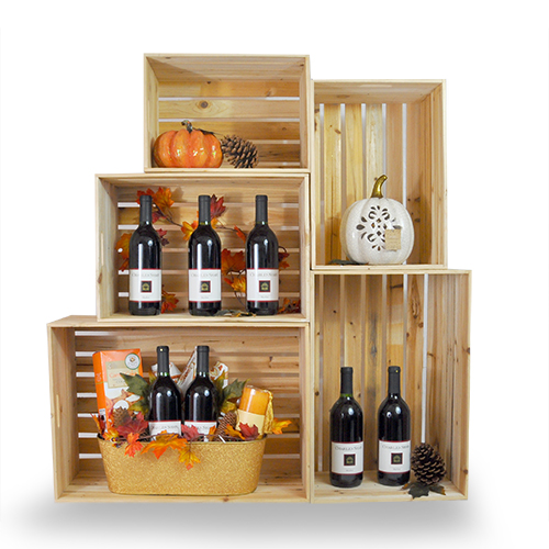 Natural Wooden Storage Crate With In Handles Extra Large