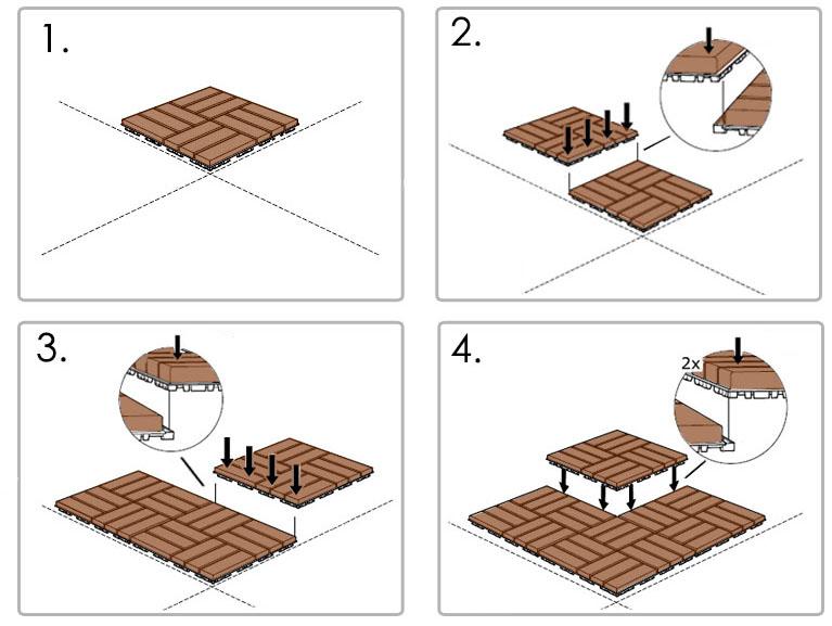 Hardwood Acacia Deck Tiles The Lucky Clover Trading Co